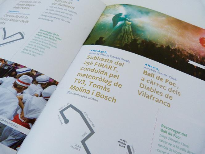 vilafranca disseny gràfic logo i programa festa major