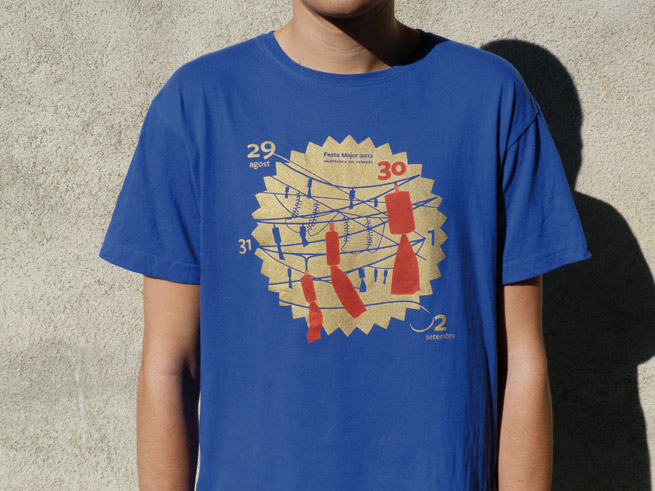 vilafranca disseny gràfic il·lustracions festa major samarreta merxandatge