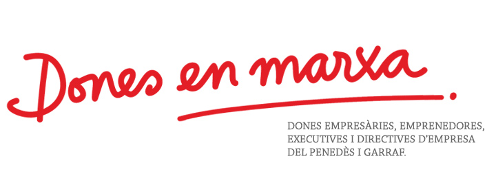 garraf, penedes, disseny grafic logotip imatge corporativa de DONES D'EMPRESA emprenedora