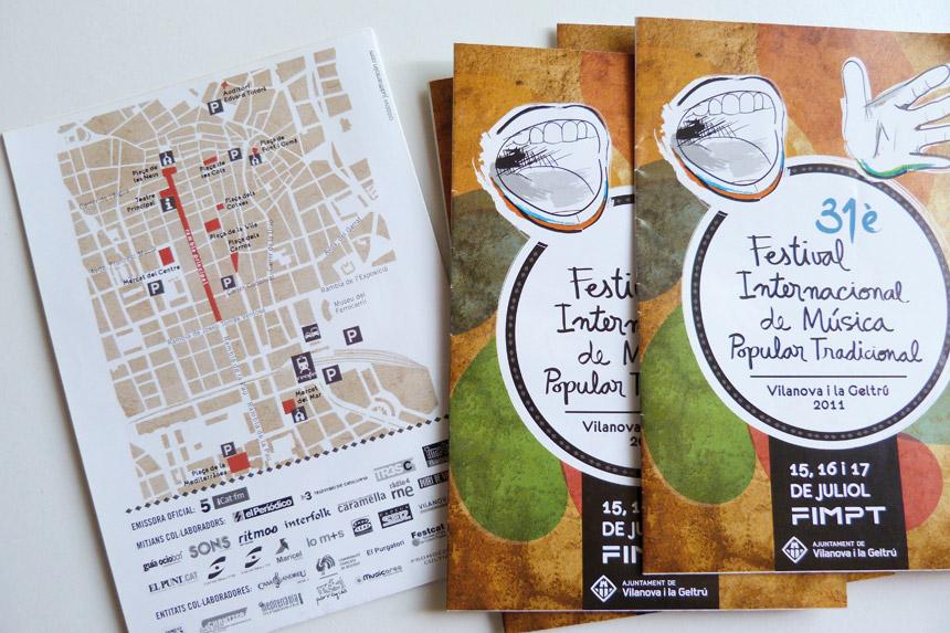 disseny gràfic Vilanova i la geltru, FIMPT, cartells, programa, publicitat, festival cultura