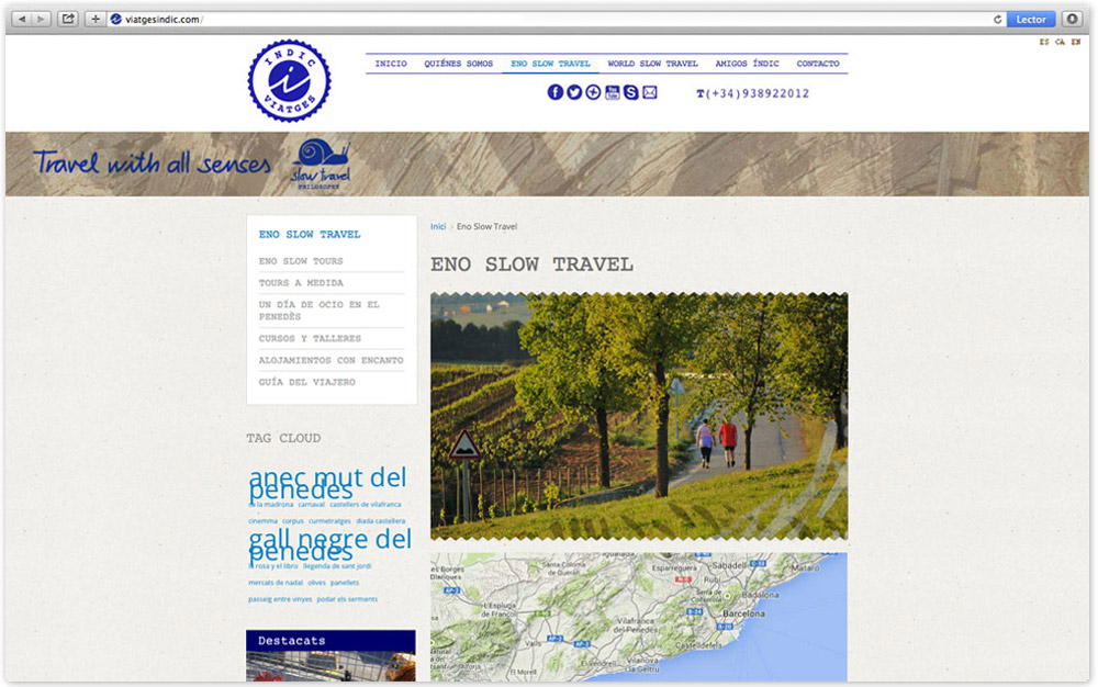 pagina web, disseny grafic logotip identitat corporativa, agencia viatges, vilafranca, penedes