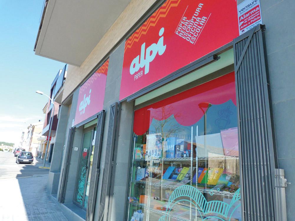 rètols botiga, disseny gràfic, negocis Calafell Tarragona