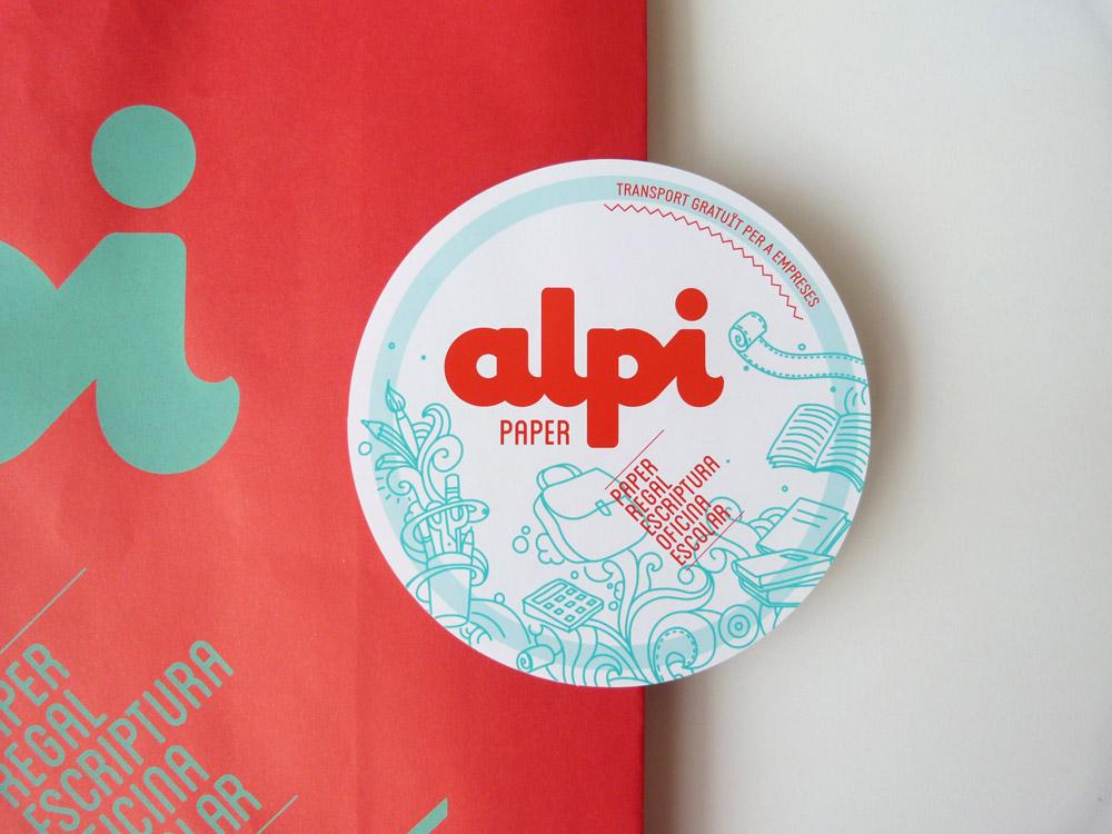 disseny gràfic Alpi, branding, botiga empresa calafell