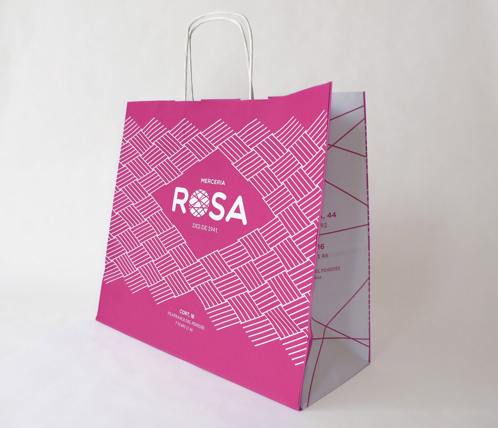 bossa per botiga, disseny gràfic logo branding  comerç vilafranca, penedes