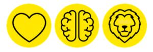 Emoció lògica i valentia disseny gràfic a mida