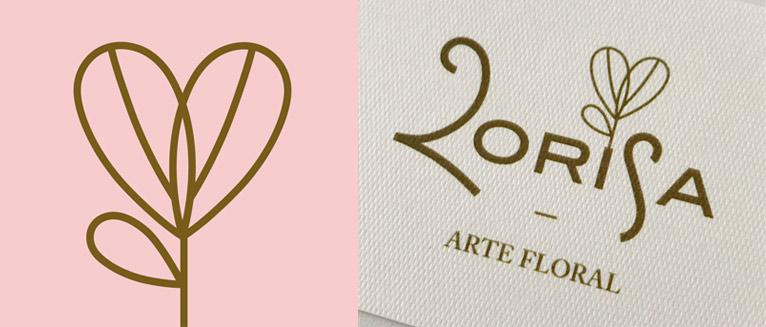 Disseny gràfic logotip Lorisa Arte Floral Penedès
