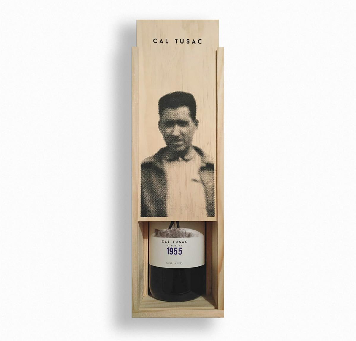 disseny packaging vi penedès, caixa de fusta