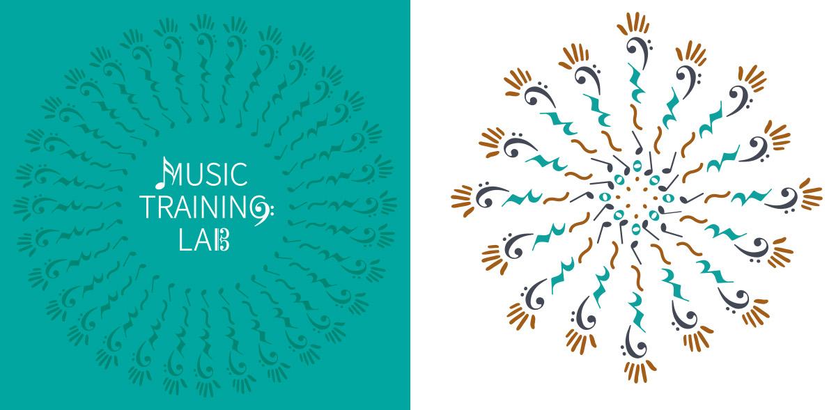 mandala, logotip, musica, disseny gràfic marca branding