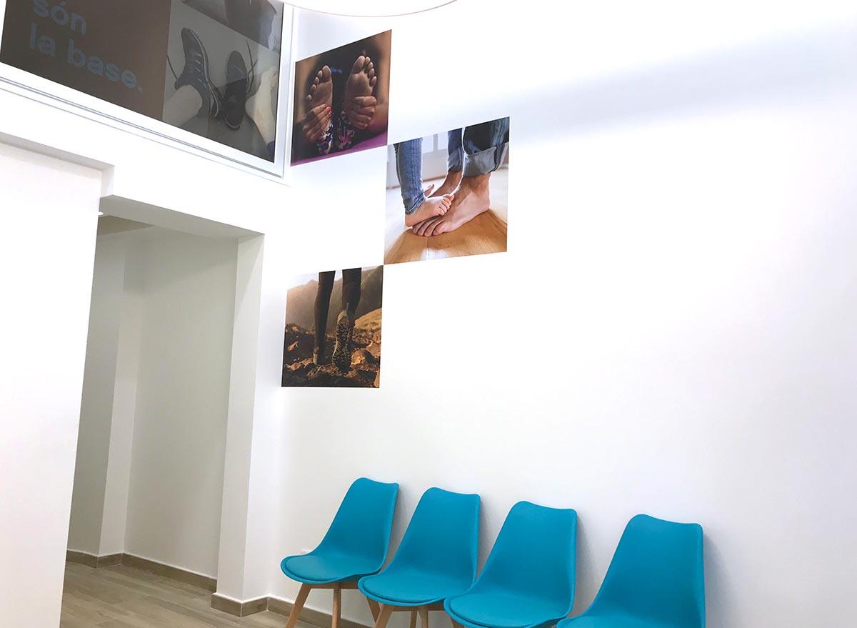 imatge corporativa, interior consulta, podologia a Vilafranca del Penedès