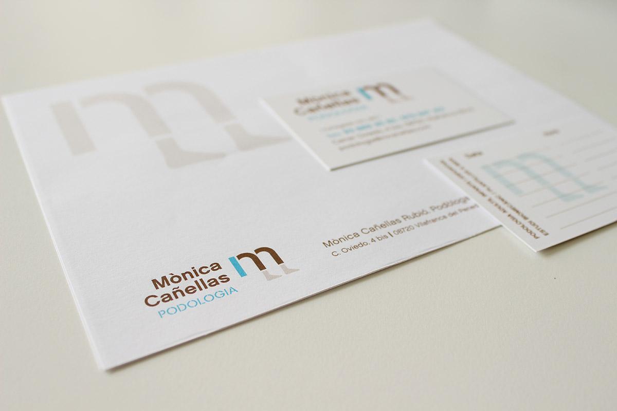 disseny papereria corporativa, consulta de salut Vilafranca penedès