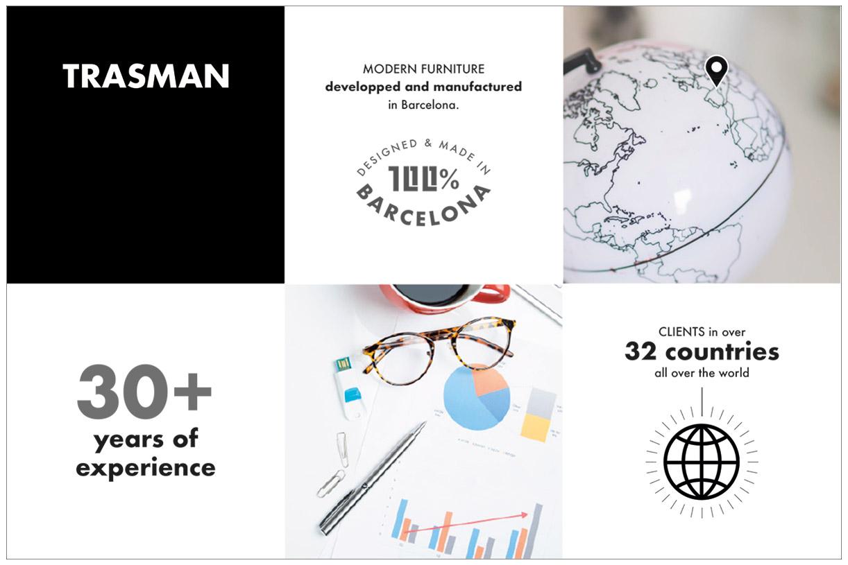 rebranding, disseny nou catàleg, marca empresa trasman