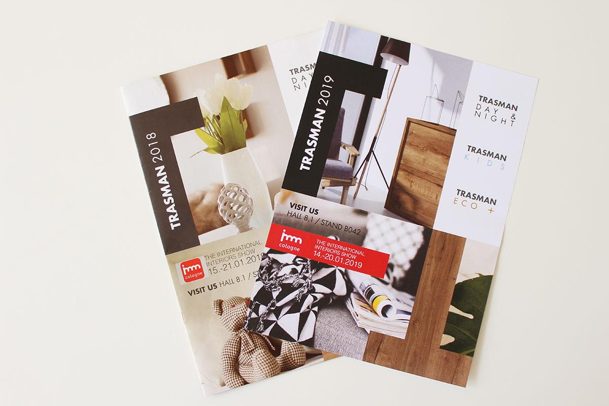 rebranding, catàleg de productes, marca empresa trasman, penedès