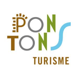 Pontons Turisme, Ajuntament de Pontons logotip disseny marca.